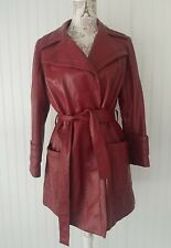 Women's Vintage 1970's 24K Leather by Dan Di Models Red Jacket Sz. S/M