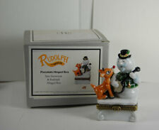 PHB Sam the Snowman With Rudolph Porcelain Hinged Box Midwest