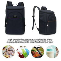 Insulated Cooler Backpack Double Deck Light Lunch Backpack Outdoor Picnic Bag US
