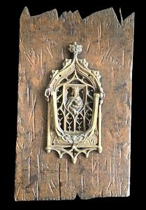 Antique Door Knocker ~ Gothic Style ~ Cathedral ~ Virgin Mary ~ Belgium