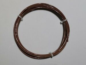 26 AWG (600V) Mil-Spec Wire (PTFE)  Stranded Silver Plated Copper, Brn 25 ft