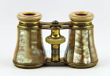 ANTIQUE FRENCH OPERA GLASSES GOLDEN RAINBOW MOTHER OF PEARL # 187 PARIS