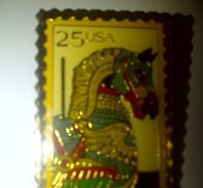 Renaissance Horse Pin .25 Postage Stamp Pin Mint Extra Rare Collect