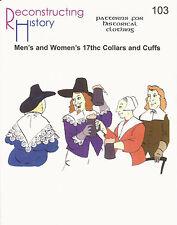 Patrones de corte Rh 103 Paper pattern 17th Century collars and CUFFS