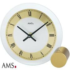 AMS Table Clock 38 Quartz Desk Metal Base Style Watch Office 998