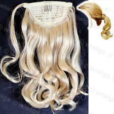 Wiwigs Blonde Mix Wavy Ladies 1 Piece Clip in Ponytail Wrap Hair Extension