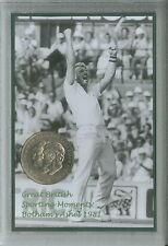 Ian Botham Vintage Bothams The Ashes England Cricket Retro Coin Gift Set 1981