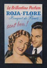 Ancienne carte parfumée ROJA FLORE variante 3 perfume card