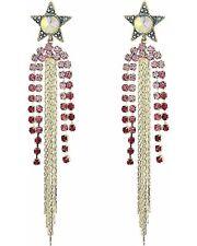 Betsey Johnson Celestial Drop Earrings Fringe Chandelier Star