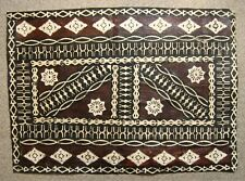 """Tapa Bark Cloth, Pacific Islands, 25"""" by 18"""""""