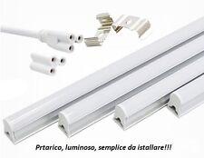 NEON LED T5 PLAFONIERA SILVER 16W 120 CM ALTA POTENZA LUMINOSA LUCE FREDDA 6000K