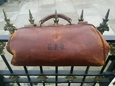 Vintage 50's Post Office GPO A.E.B.& Co Gladstone Antique Doctors Medical Bag.vg