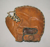 Old Antique Vtg 1930s HOF Johnny Mize Buckle Back Baseball Glove Left Handed