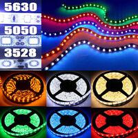 5M 10M 15M 3528 5050 5630 SMD 300 LED Flexible Strip Light Lamp Nonwaterproof