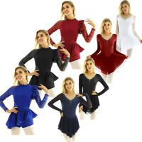 Adult Women Ballet Dance Gymnastics Leotard Roller Skating Unitard Dress Costume