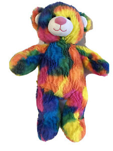 "Build-A-Bear 16"" Rainbow Tye Dye Teddy Bear Stuffed Plush"