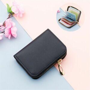 Unisex Purse Coin Bag Card Case ID Card Holder Zipper Pocket Wallet PU Leather