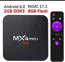 Mxq 4K Pro Quad Core 2gb RAM 8gb ROM Smart Tv Box Kodi 17.3 Faster CPU