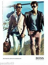 PUBLICITE ADVERTISING 1016  2012  Hugo Boss  mode haute couture homme