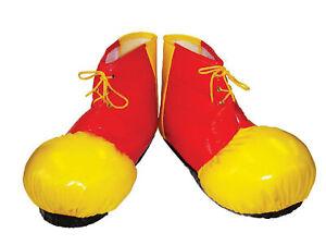 Adults Clown Shoe Covers Fancy Dress Costume Accessory Circus Unisex Clowns