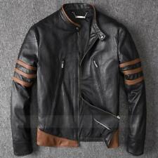 X-Men Wolverine Leather Jackets Origins Biker Logan Brown Real Leather Jackets