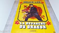 bruce lee LA REVANCHE DU DRAGON  ! affiche cinema