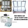 420 Neo Media DJ Aluminium Flight Carry Case Box Numberd Sleeves CD Storage New