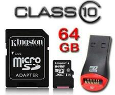 Kingston 64GB class-10 MicroSDXC Micro SD XC Memory Card For Samsung Galaxy Note