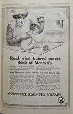 New listing 1915 ORIGINAL VINTAGE Mennen's Baby Talcum Powder PRINT AD
