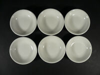 Set of 6 Cameo White Sauce Dipping Bowls Dishes 3 1/2""
