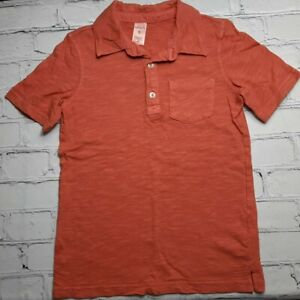 Carters Boy 5 Coral Blended Polo 3 Button Short Sleeve Casual Collar Shirt