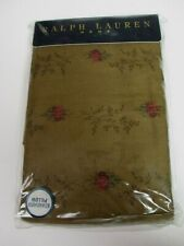 New Ralph Lauren FORMAL GARDEN Brown Floral Rose 2 Standard Pillowcases