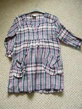 MASAI Check Relaxed Fit Tunic Dress Size 14-16 (M)