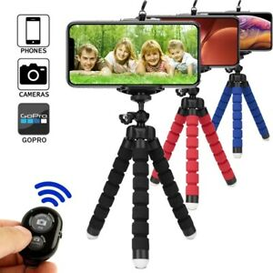 Flexible Tripod Bluetooth with Remote for Phones Cell Phone Selfie Stick Stand