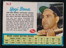 1962 POSTS  YOGI BERRA   VG/EX  NEW YORK YANKEES  #7    042718