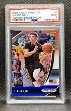 🔥2020-21 Panini Prizm DP Lamelo Ball #3 Red/White/Blue PSA 9 MINT Rookie RC SSP