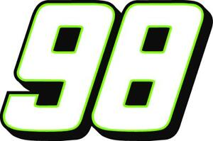 NEW FOR 2021 - #98 Riley Herbst Racing Sticker Decal SM thru XL - various colors