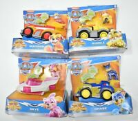 Mighty Pups Super Paws Patrol Lot of 4, Skye Chase Rubble Marshall, Deluxe