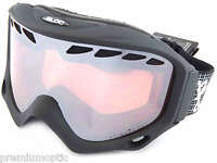 BLOC medium fit PHANTOM 2 ski snow Goggles MATTE BLACK/ Vermillion MIRROR PT01