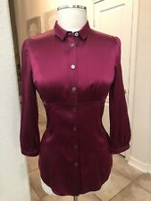 Burberry Womens Silk Blouse Size 4