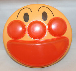 Lec Anpanman Japanese Anime Baby Children Face Divided Lunch Plate Dish With Lid