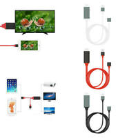 HDMI Cable Phone to TV HDTV Adapter For Apple iPhone 5 / 5s / 6 / 6s / iPad