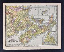 1905 Crowell Map - New Brunswick Nova Scota Prince Edward Island Halifax Canada