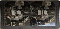 Palacio Royal Sala Del Consejo Estocolmo Suecia Foto Estéreo Vintage