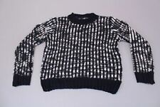 Nasty Gal Women's Katsumi So Twisted Yarn Chunky Knit Sweater LL1 Navy Size M/L