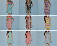 Assorted Lot of Short Sleeve or Sleeveless Soft Dress Genuine BARBIE Fashion