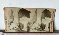 GIRLS GET UNDRESSED Antique AMERICAN FOREIGN VIEWS SEPIA Victorian Stereoview