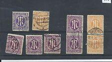 Germania francobolli. 1945 alleati occupazione militare POST USATO. PERF 14 Plus (Z398