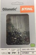 "Stihl 61PMM355 MS170 MS180 Saw Chain 16"" PICCO Micro 3/8 .043 - NEW 61PMM3 55"
