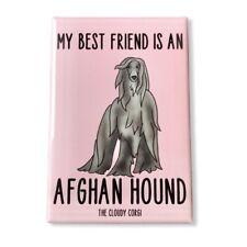 Afghan Hound Dog Magnet Handmade Best Friend Cartoon Art Gifts and Decor